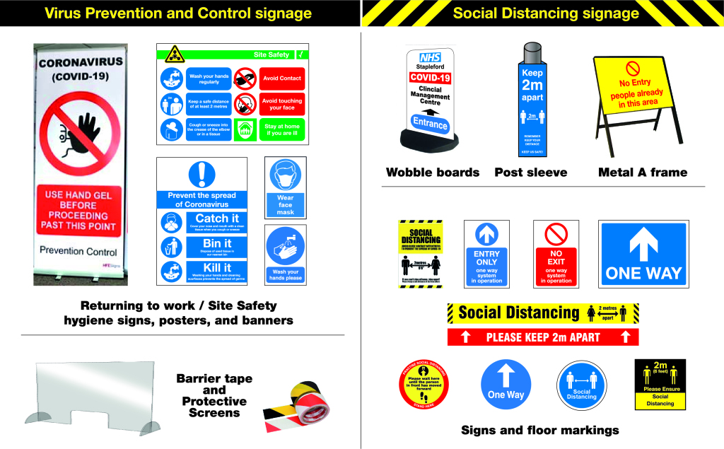 promotional displays covid-19 signage